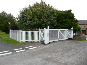 "alt=""Bradpole's Level Crossing Gates"""