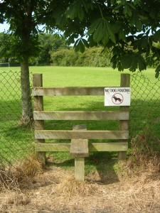 "alt=""Dog Fouling Notice on stile at Gore Cross Recreation Area"""