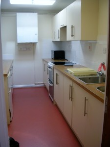 The equipped kitchen at Bradpole Village Hall