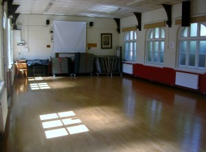 The community room at Bradpole Village Hall