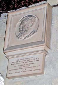 "alt=""memorial to WE Forster in Westminster Abbey"""