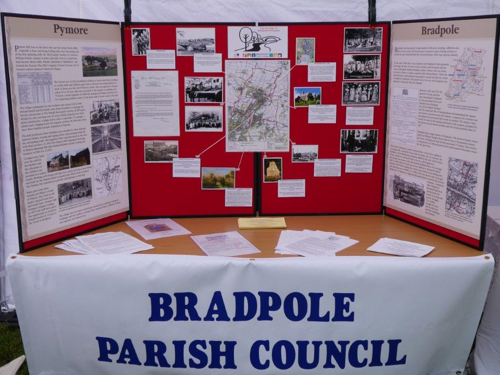 A photo of the Bradpole Parish Council stall at the 2017 Bradpole Fete