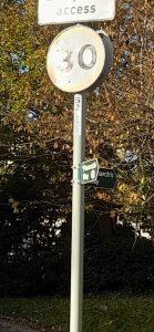 "alt=""Monarchs Way signs at Lee Lane"""