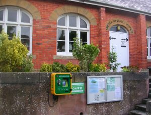 "alt=""Bradpole Village Hall & Defibrillator"""